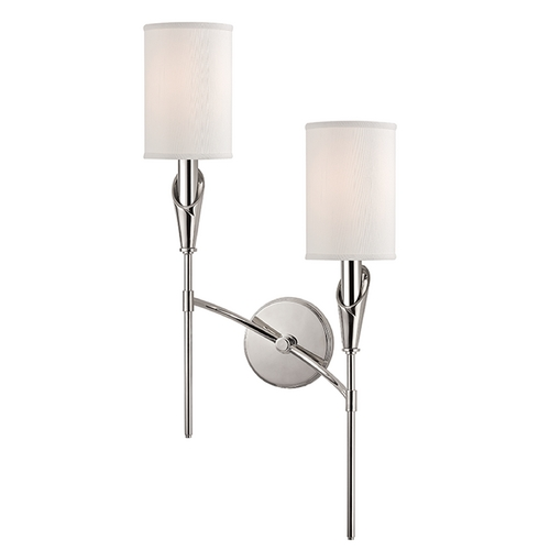 Hudson Valley Lighting Hudson Valley Lighting Tate Polished Nickel Sconce 1312R-PN