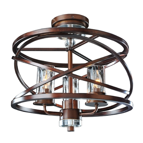 Kalco Lighting Kalco Lighting Eternity Etruscan Bronze Semi-Flushmount Light 6605EZ