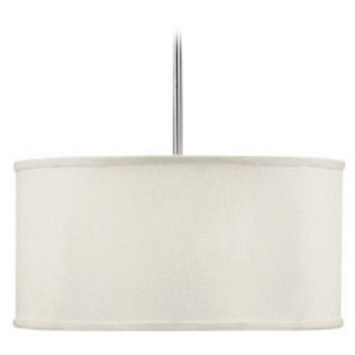 Capital Lighting Capital Lighting Matte Nickel Pendant Light with Drum Shade 3910MN-457