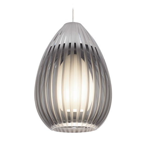 Tech Lighting Ava Chrome Mini-Pendant Light with Teardrop Shade by Tech Lighting 700MPAVAKC