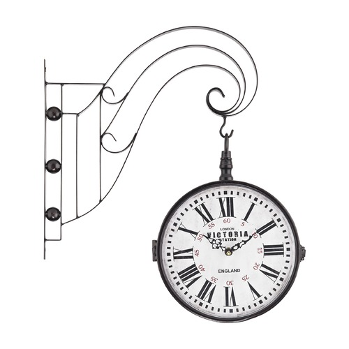 Sterling Lighting Double Sided Iron Scroll Wall Clock 171-006