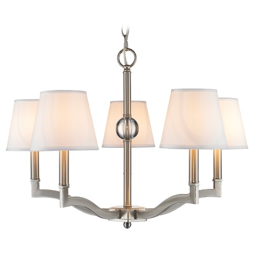 Golden Lighting Golden Lighting Waverly Pewter Chandelier 3500-5 PW-CWH