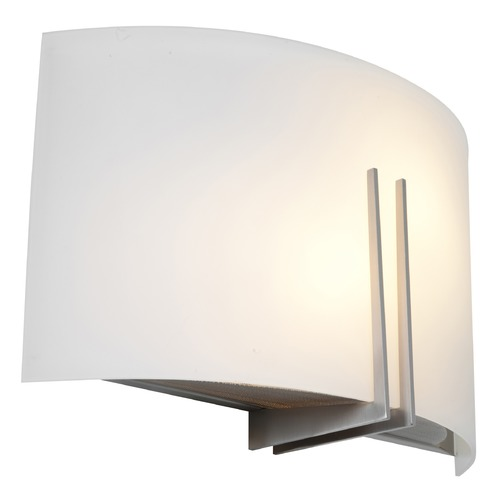 Access Lighting Access Lighting Prong Brushed Steel LED Sconce 20447LEDD-BS/WHT