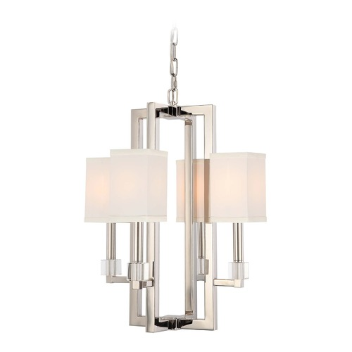 Crystorama Lighting Crystorama Lighting Dixon Polished Nickel Mini-Chandelier 8884-PN