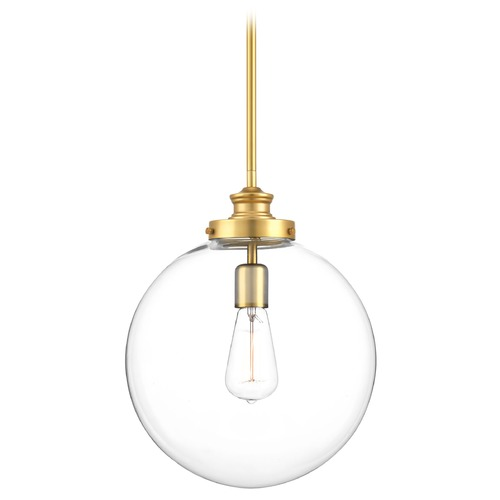Progress Lighting Mid-Century Modern Pendant Light Brass Penn by Progress Lighting P5328-137