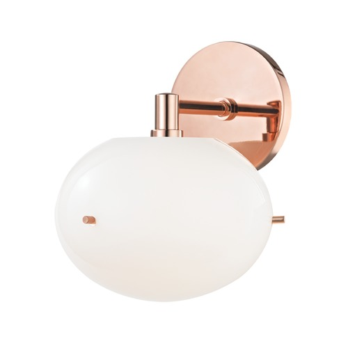 Mitzi by Hudson Valley Winnie Polished Copper LED Sconce Mitzi by Hudson Valley H102101-POC