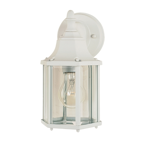 Maxim Lighting Outdoor Wall Light with Clear Glass in White Finish 1026WT
