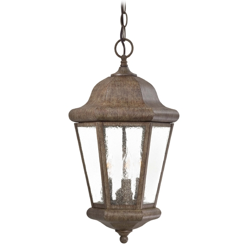 Minka Lavery Outdoor Hanging Light with Clear Glass in Vintage Rust Finish 8614-A61