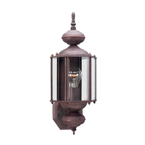 Sea Gull Lighting Outdoor Wall Light with Clear Glass in Sienna Finish 8510-26