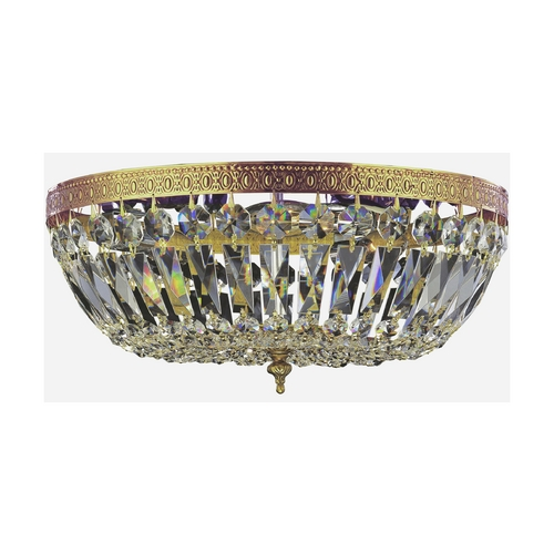 Crystorama Lighting Crystal Flushmount Light in Olde Brass Finish 716-OB-CL-MWP