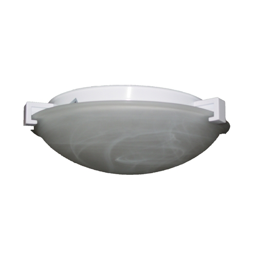 PLC Lighting Modern Flushmount Light with White Glass in Rust Finish 7016  RU