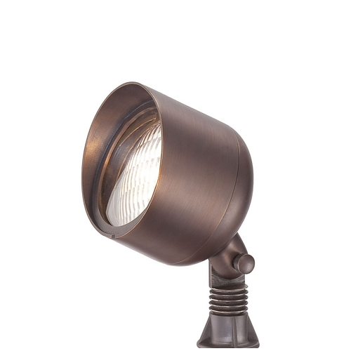Brass Works Lighting Cast Solid Brass Low Voltage Landscape Accent Light S11-BZ