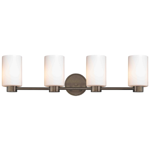 Design Classics Lighting Design Classics Lighting Aon Fuse Heirloom Bronze Bathroom Light 1804-62 GL1028C