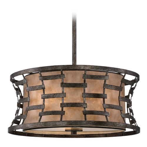 Quoizel Lighting Quoizel Mica Silver Pendant Light MC1910MM