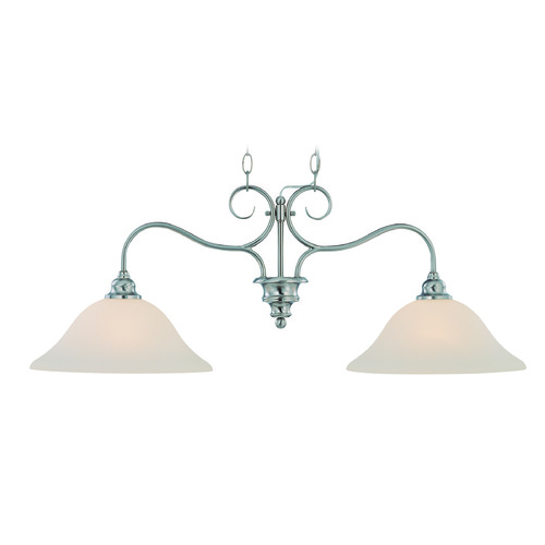 Jeremiah Lighting Jeremiah Linden Lane Satin Nickel Island Light with Bowl / Dome Shade 26322-SN