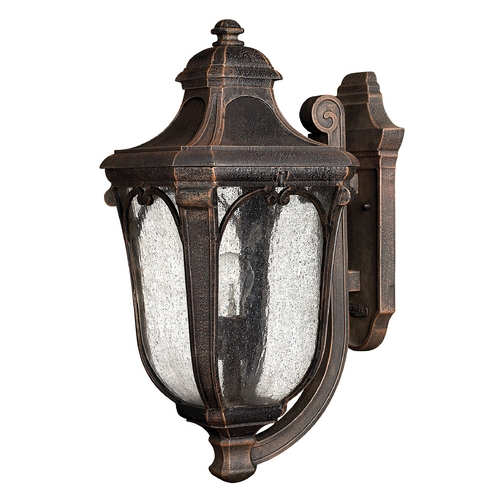 Hinkley Lighting Outdoor Wall Light with Clear Glass in Mocha Finish 1314MO-GU24