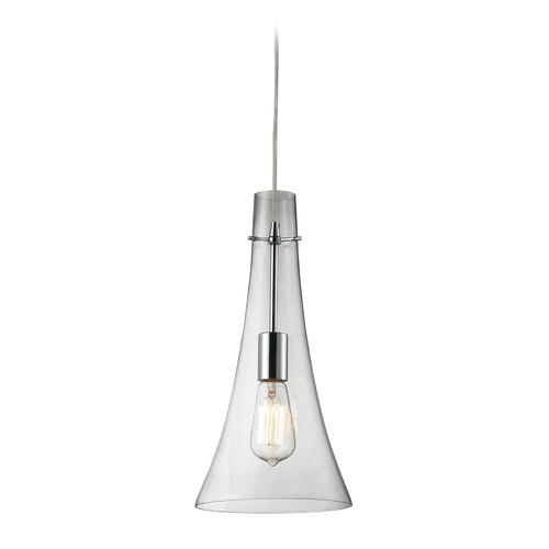 Elk Lighting Mini-Pendant Light with Clear Glass 60055-1