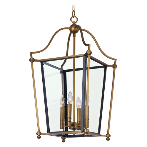 Maxim Lighting Maxim Lighting Ritz Natural Aged Brass Pendant 22398CLNAB