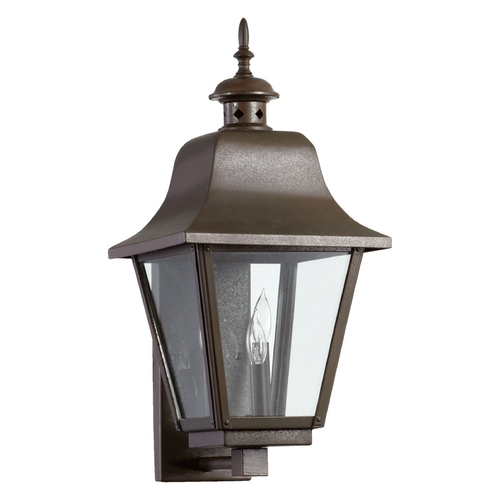 Quorum Lighting Quorum Lighting Bishop Oiled Bronze Outdoor Wall Light 7030-3-86