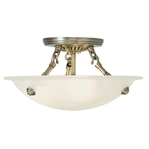 Livex Lighting Livex Lighting Oasis Antique Brass Semi-Flushmount Light 4272-01