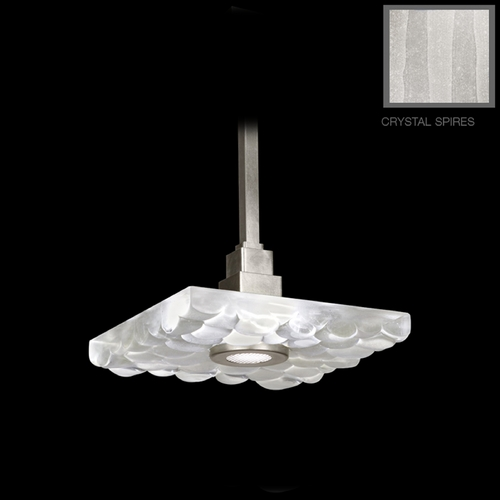 Fine Art Lamps Fine Art Lamps Crystal Bakehouse Silver Leaf Pendant Light with Square Shade 818840-33ST