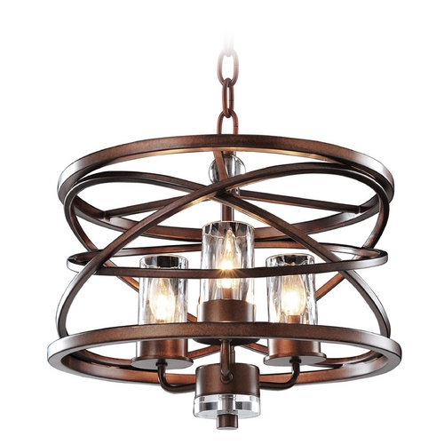 Kalco Lighting Kalco Lighting Eternity Etruscan Bronze Pendant Light with Cylindrical Shade 6606EZ