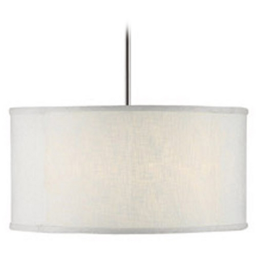 Capital Lighting Capital Lighting Polished Nickel Pendant Light with Drum Shade 3910PN-457