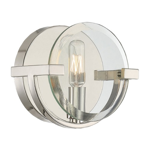 Savoy House Savoy House Lighting Malvern Polished Nickel Sconce 9-2095-1-109