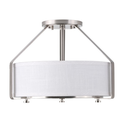 Progress Lighting Progress Lighting Ratio Brushed Nickel Semi-Flushmount Light P3604-09