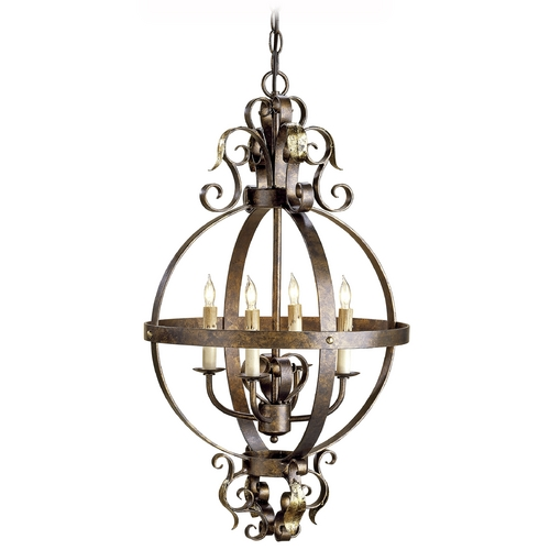 Currey and Company Lighting Pendant Light in Cupertino/gold Leaf Finish 9390