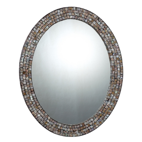 Quoizel Lighting 24-Inch Quoizel Mirror with Mosaic Band QR1253