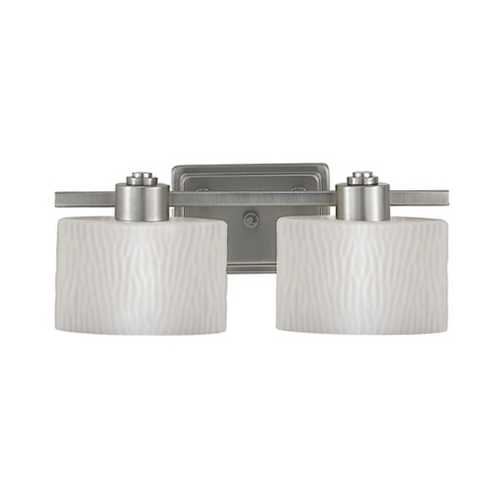 Quoizel Lighting Two-Light Bathroom Light with Ripple Glass PF8602ES
