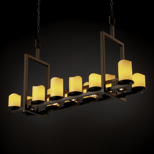 Justice Design Group Justice Design Group Candlearia Collection Island Light CNDL-8720-14-AMBR-DBRZ