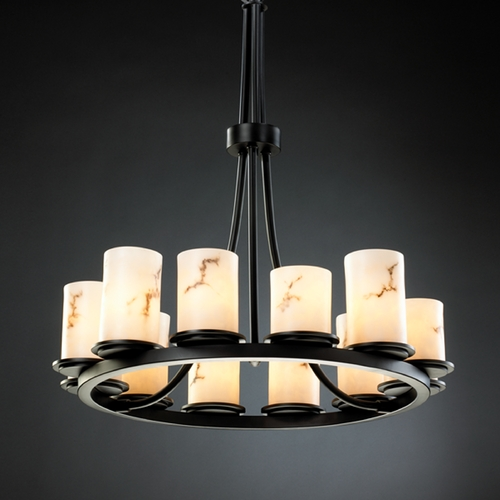 Justice Design Group Justice Design Group Lumenaria Collection Chandelier FAL-8763-10-MBLK