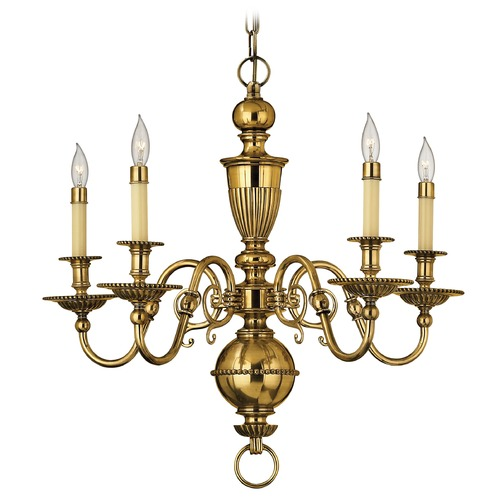 Hinkley Lighting Chandelier in Burnished Brass Finish 4415BB