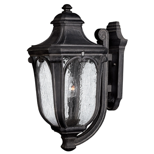 Hinkley Lighting Outdoor Wall Light with Clear Glass in Museum Black Finish 1315MB-GU24