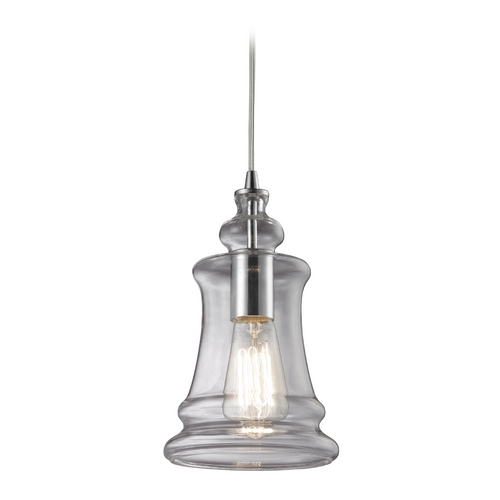 Elk Lighting Mini-Pendant Light with Clear Glass 60052-1