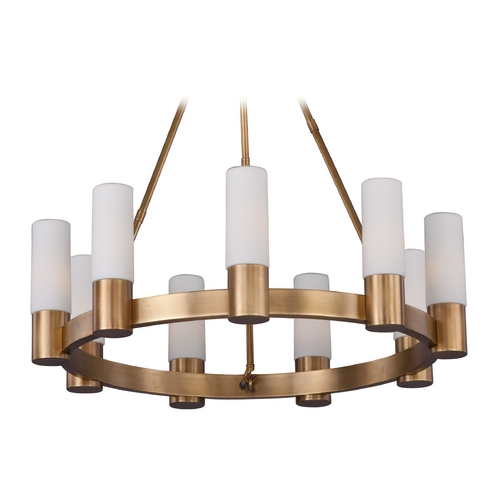 Maxim Lighting Maxim Lighting Contessa Natural Aged Brass Chandelier 22418SWNAB