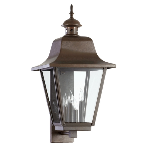 Quorum Lighting Quorum Lighting Bishop Oiled Bronze Outdoor Wall Light 7030-4-86