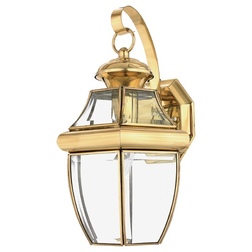 Quoizel Lighting Quoizel Newbury Polished Brass Outdoor Wall Light NY8316BFL