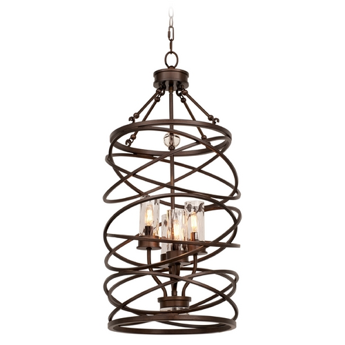 Kalco Lighting Kalco Lighting Eternity Etruscan Bronze Pendant Light with Cylindrical Shade 6607EZ