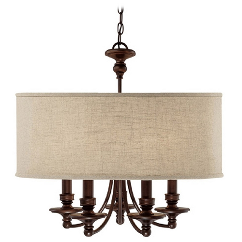 Capital Lighting Capital Lighting Burnished Bronze Chandelier 3915BB-454
