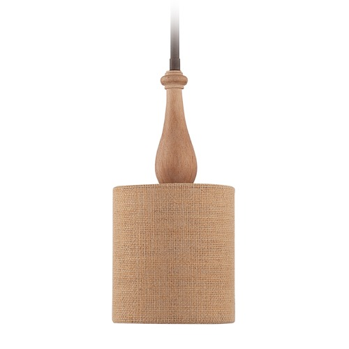 Jeremiah Lighting Jeremiah Lighting Glenwood Aged Bronze/distressed Oak Mini-Pendant Light 38191-JBZDO