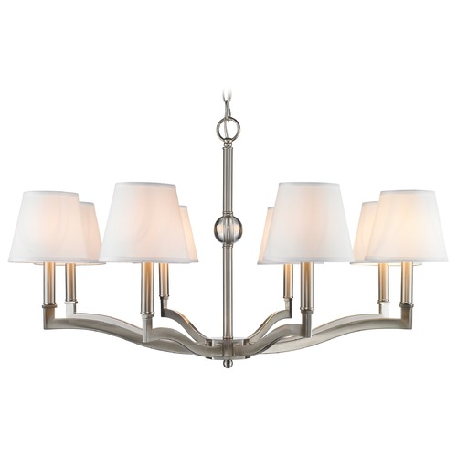 Golden Lighting Golden Lighting Waverly Pewter Chandelier 3500-8 PW-CWH
