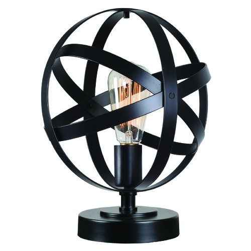 Kenroy Home Lighting Kenroy Home Global Black Accent Lamp 32902BL