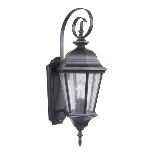 Craftmade Lighting Seeded Glass Outdoor Wall Light Bronze Craftmade Lighting Z2914-88