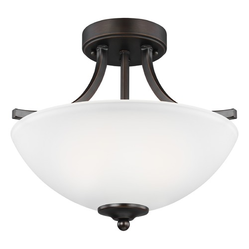Sea Gull Lighting Sea Gull Lighting Geary Burnt Sienna LED Semi-Flushmount Light 7716502EN3-710
