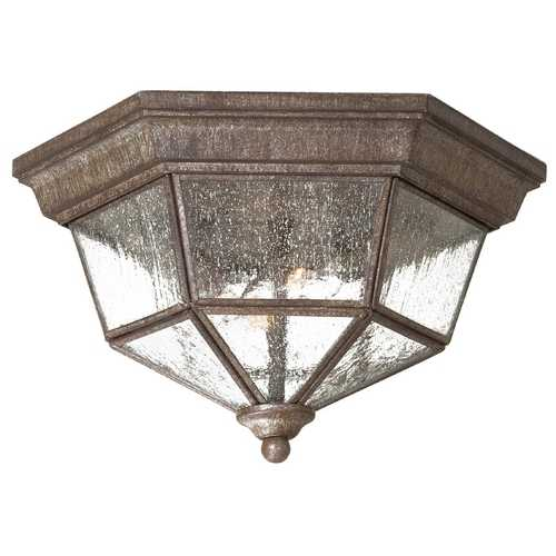 Minka Lavery Close To Ceiling Light with Clear Glass in Vintage Rust Finish 8619-A61