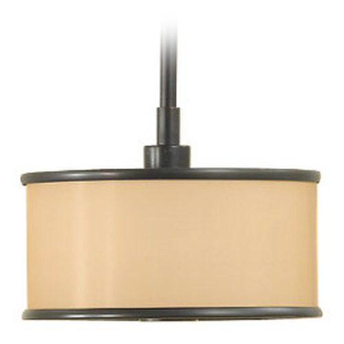 Feiss Lighting Mini-Pendant Light with Brown Shade P1137DBZ
