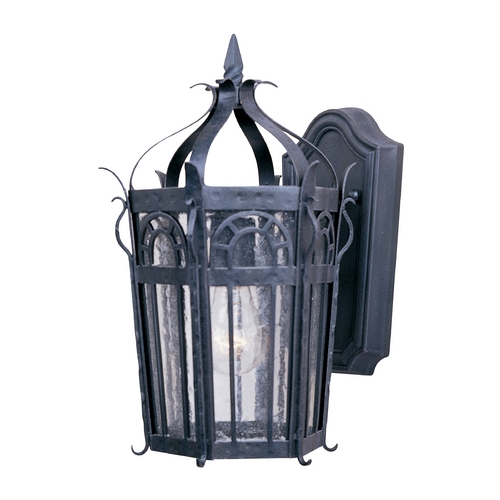 Maxim Lighting Outdoor Wall Light with Clear Glass in Country Forge Finish 30041CDCF